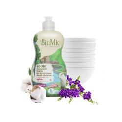 BioMio Средство для мытья посуды, овощей и фруктов с маслом вербены 450мл