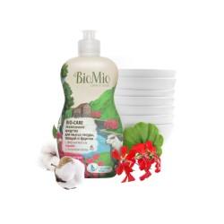 BioMio Средство для мытья посуды, овощей и фруктов с маслом герани 450мл