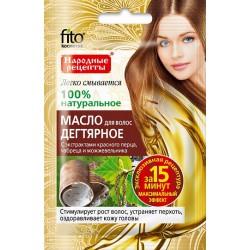 Народные рецепты Масло для волос Дегтярное для роста/против перхоти 20мл
