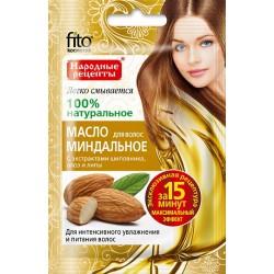 Народные рецепты Масло для волос Миндальное д/увлажнения и питания волос 20мл