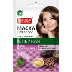 Народные рецепты Натуральная маска для волос Репейная против выпадения 30мл