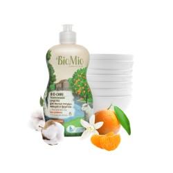 BioMio Средство для мытья посуды, овощей и фруктов с маслом мандарина 450мл