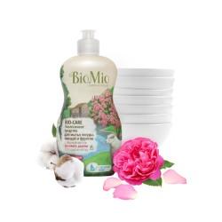 BioMio Средство для мытья посуды, овощей и фруктов с маслом розового дерева 450мл