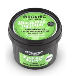 Organic Kitchen Густое мыло для душа для волос и тела тонизирующее Мыльные пузыри 100мл