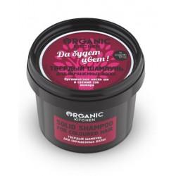 Organic Kitchen Твердый шампунь для окрашенных волос Да будет цвет 100мл