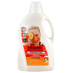 Organic People Fruit Эко кондиционер-ополаскиватель для белья Персик 1,5л