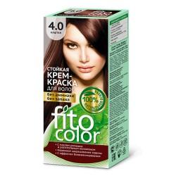 Фитокосметика Стойкая крем-краска для волос Каштан 4.0
