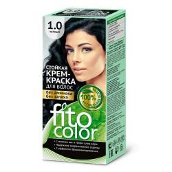 Фитокосметика Стойкая крем-краска для волос Черный 1.0