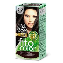 Фитокосметика Стойкая крем-краска для волос Темный каштан 3.0