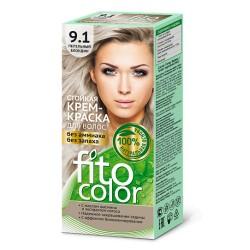 Фитокосметика Стойкая крем-краска для волос Пепельный блондин 9.1