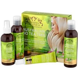 Planeta Organica Набор для волос Глубокое очищение и баланс кожи головы (Чайное дерево: Гель+шам-нь+бал-м+спрей) 4ед