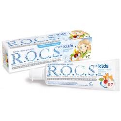 ROCS Детская зубная паста Kids Фруктовый рожок без фтора вкус мороженного 4-7лет 45г