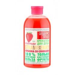 Organic Shop Fruit Гель для душа Клубника со сливками 500мл