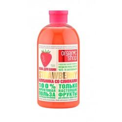 Organic Shop Fruit Пена для ванн Клубника со сливками 500мл