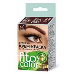 Фитокосметик Стойкая крем-краска для бровей и ресниц Горький шоколад 4.0