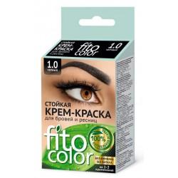 Фитокосметик Стойкая крем-краска для бровей и ресниц Черный 1.0