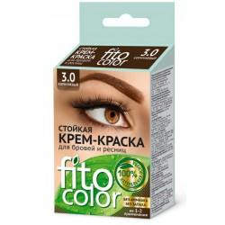 Фитокосметик Стойкая крем-краска для бровей и ресниц Коричневый 3.0