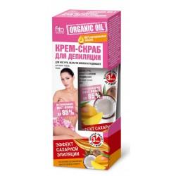Organic Oil Крем-скраб для депиляции Эффект сахарной эпиляции д/всех типов кожи 100мл