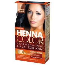 Фитокосметик Стойкая Крем-краска на основе хны Henna Color Иссиня черный 1.1