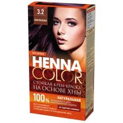 Фитокосметик Стойкая Крем-краска на основе хны Henna Color Баклажан 3.2
