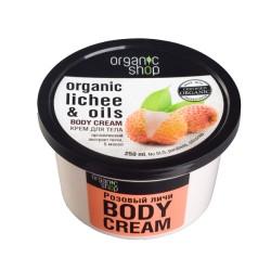 Organic Shop Крем для тела Розовый личи 250мл