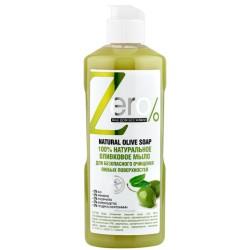 Zero 100% Натуральное Оливковое мыло для безопасного очищения 500мл