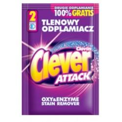 Clovin Clever Attack Кислородный Пятновыводитель в порошке для белых и цветных тканей 60г