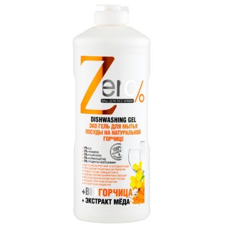 Zero Эко Гель для мытья посуды на натуральной горчице 500мл