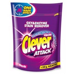 Clovin Clever Attack Кислородный Пятновыводитель в порошке для белых и цветных тканей 350г