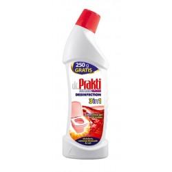 Clovin dr.Prakti Средство для мытья унитаза антибактериальное 3в1 750мл