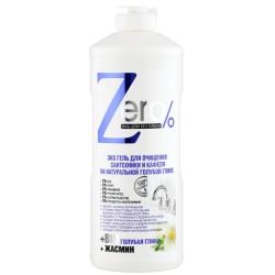 Zero Эко Гель для очищения сантехники и кафеля на натуральной голубой глине 500мл