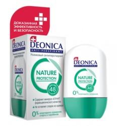 Deonica Дезодорант роликовый Антиперспирант Nature Protection 45мл