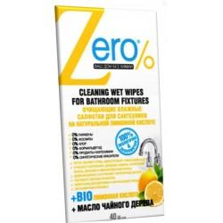 Zero Очищающие влажные салфетки для сантехники 40шт