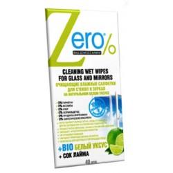 Zero Очищающие влажные салфетки для стекол и зеркал 40шт