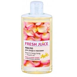 Fresh Juice Масло для ухода и массажа Роза и иланг-иланг с персиковым маслом 150мл