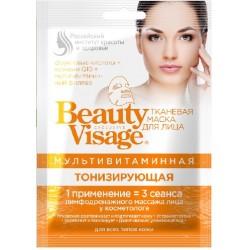 Beauty Visage Тканевая маска д/лица Мультивитаминная Тонизирующая д/всех типов кожи 25мл