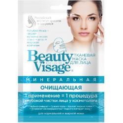 Beauty Visage Тканевая маска д/лица Минеральная очищающая д/норм/жирн кожи 25мл