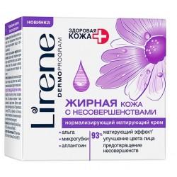 Lirene Здоровая кожа Нормализующий матирующий крем для лица д/жирн кожи 50мл
