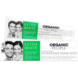 Organic People Органическая зубная паста Extra White 100мл