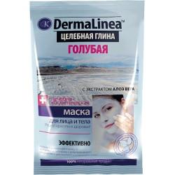 DermaLinea Целебная грязь для лица и тела Голубая с алоэ вера 75мл